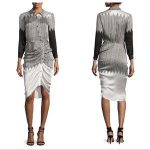 Veronica Beard Clara 100% Silk Shirtdress